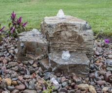 Pagoda Fountain Rock Set by Kingdom Landscaping