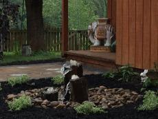 Double-Textured Basalt Columns by Kingdom Landscaping