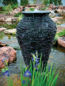 Aquascape Stacked Slate Urn Fountain by Kingdom Landscaping