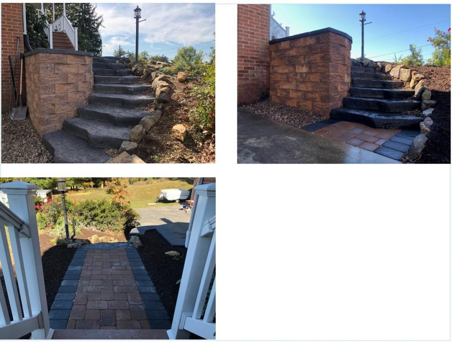 EP Henry walkway and steps Smithsburg Maryland Kingdom Landscaping