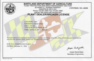 Plant Dealer License 2020