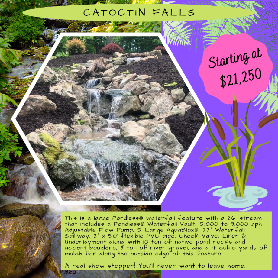 Kingdom Landscaping Pondless Waterfall Builder Catoctin Falls