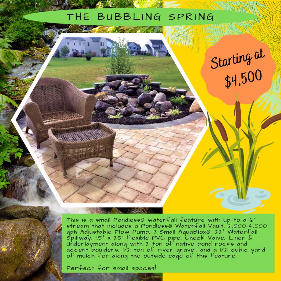 Kingdom Landscaping Pondless Waterfall Builder the Bubbling Spring