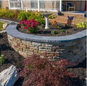 EP Henry cast stone wall installed by Kingdom Landscaping Smithsburg Maryland