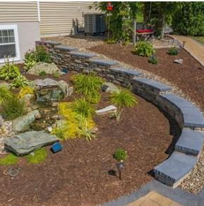 EP Henry Cast Stone wall Aquascape Pondless waterfall Kingdom Landscaping