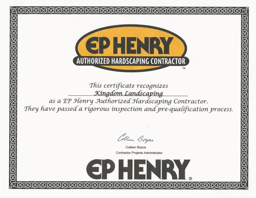 EPHAC Certificate